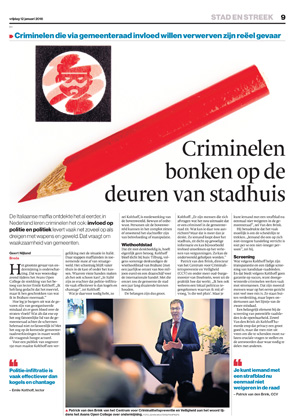 Artikel in BN De Stem